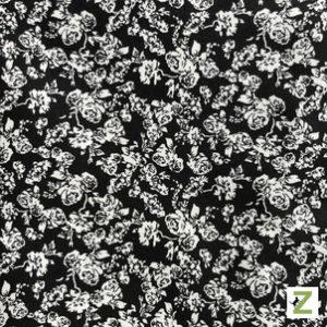 117 - Schwarz mit weißen Röschen